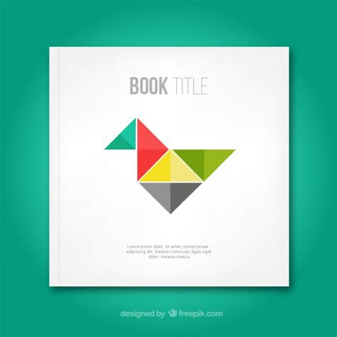 book cover pictures free book cover with origami bird vector free