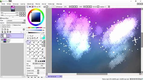 paint tool sai galaxy tutorial how to paint a galaxy tutorial