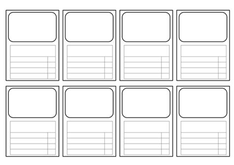 make your own revision cards templates for top trumps style cards all subjects by