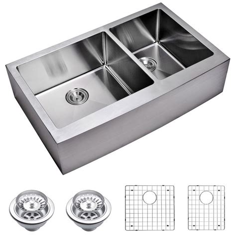small kitchen sinks stainless steel water creation farmhouse apron front small radius