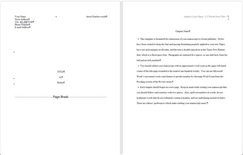 picture book manuscript format word for writers part 14 creating and using custom