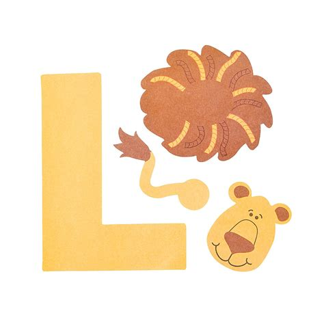 l craft for l is for lions letter l craft kit trading