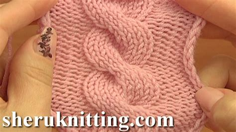 knitting cables tutorial front cross cable stitch pattern c8f knitting tutorial