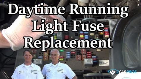 lights fuses daytime running light fuse replacement
