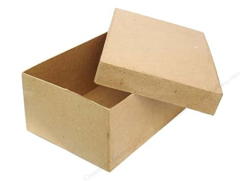 craft paper boxes paper mache rectangle box 7 1 2 in by craft pedlars