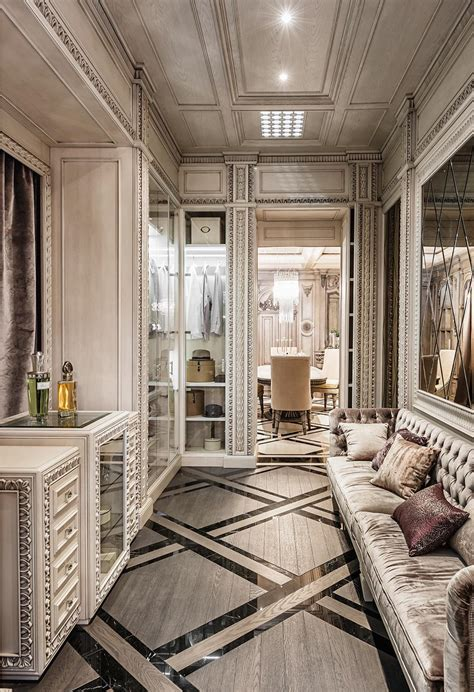 maison home interiors neoclassical and deco features in two luxurious interiors