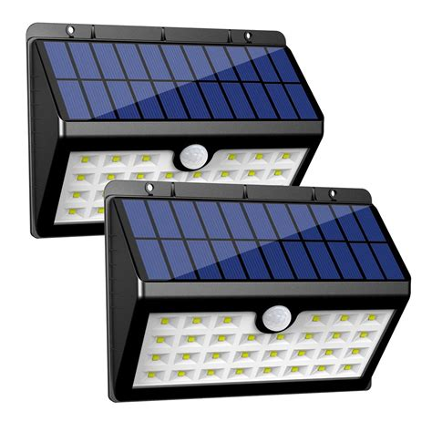 solar power outdoor light innogear solar lights 30 led wall light outdoor security