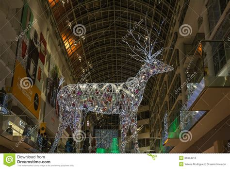 commercial decorations canada decorations at eaton centre in toronto editorial