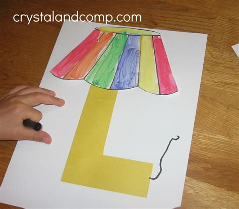 l craft for alphabet activities for preschoolers l is for l