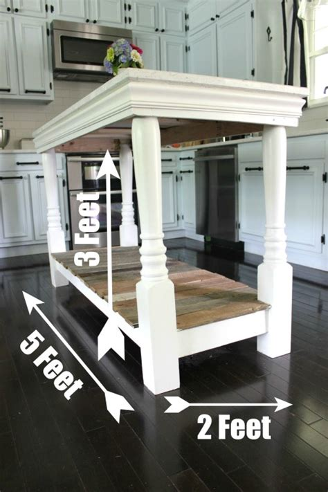 how to build a kitchen island table diy kitchen island with salvaged wood