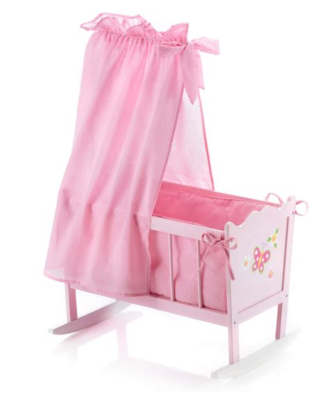 bayer chic 2000 butterfly wooden dolls cradle