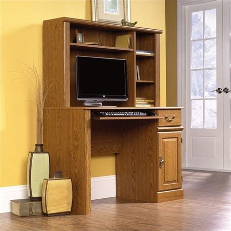 small computer desk with hutch sauder orchard small wood w hutch computer desk ebay