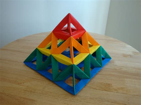 best modular origami open frame unit 3x3 pyramid 2 modular origami the