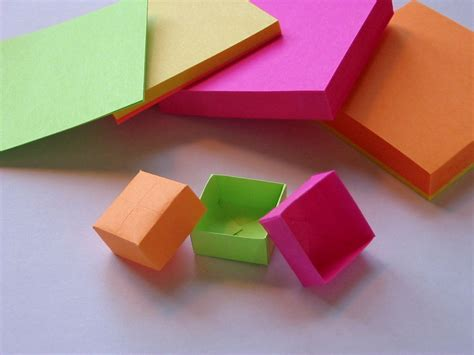 how to make origami out of sticky notes origami post it box