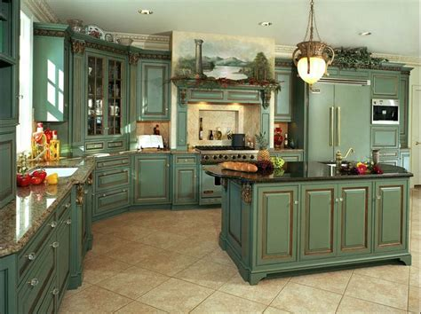 green kitchen furniture 1000 ideas about country kitchen cabinets on