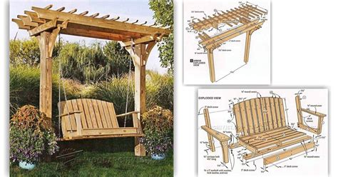 arbor swing plans free plans for a wooden bench