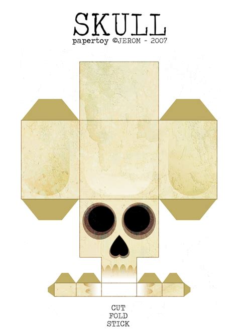 paper craft skull paper craft on paper toys paper