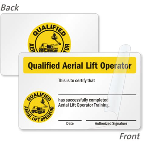 card course forklift certification cards forklift driver wallet cards
