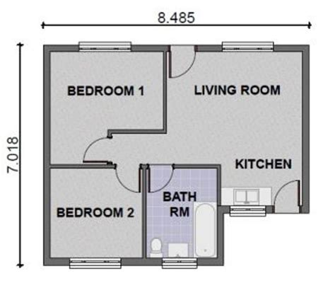 two bedroom house plan of two bedroom house universalcouncil info
