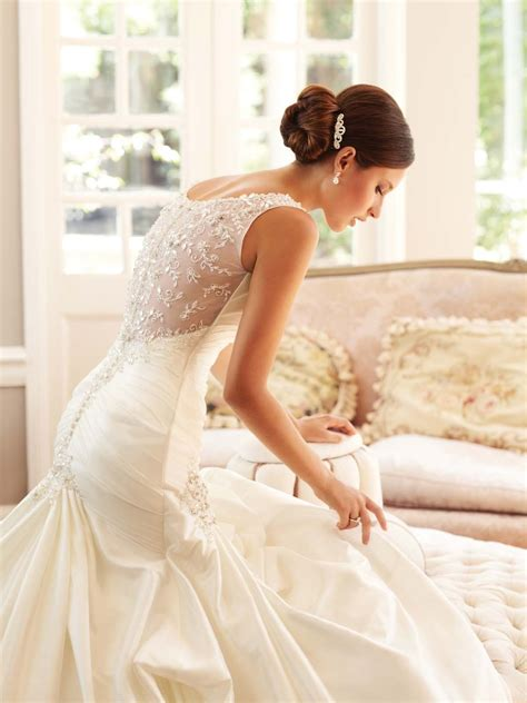 wedding dress beaded back gorgeous beaded back wedding dresses sang maestro