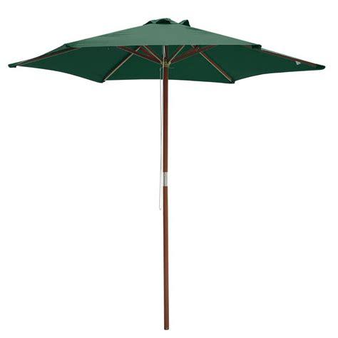patio umbrella pole 8ft 6 ribs patio wood umbrella wooden pole outdoor garden