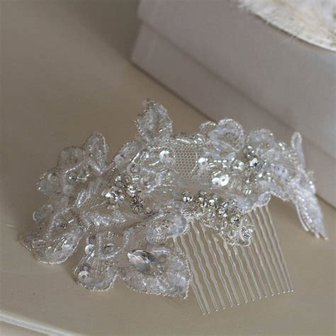 beaded lace beaded lace hair comb band gretta by