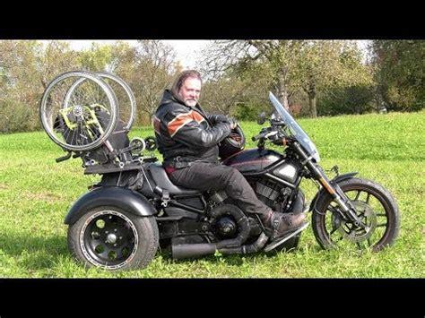 Motorrad Umbau Youtube by Rollstuhl Trike Harley Davidson Motorrad Umbau Youtube