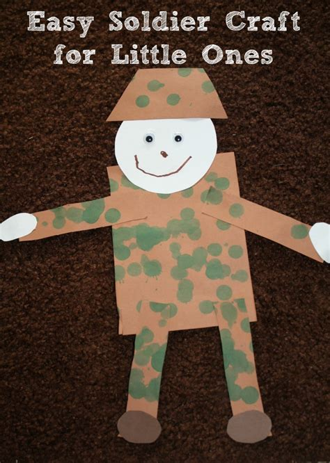 veterans day crafts soldier craft