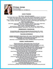 resume format in word format the best and impressive dance resume examples collections