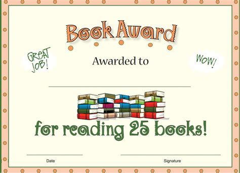 free printable reading awards free reading award