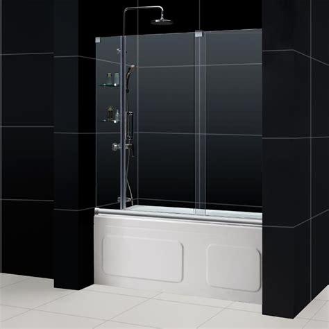 sliding glass shower doors tub mirage frameless sliding shower door dreamline bathroom