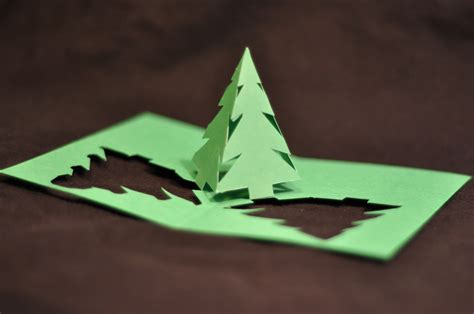 how to make a 3d tree card simple pyramid tree pop up card template