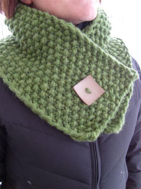 knitting moss stitch scarf bulky and warm neck wrap nancyknit s