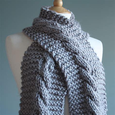 free chunky scarf knitting patterns uk knitting patterns galore chunky cable scarf