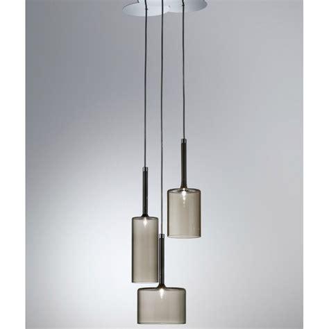 pendant ceiling light axo light spillray spspill3grcr12v grey pendant ceiling