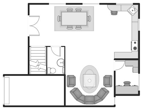 draw simple floor plan basic floor plans solution conceptdraw