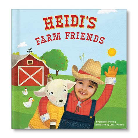 customized picture books my farm friends personalized children s book and accessories