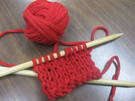 how to knit with yarn upcycle t shirts into knitting yarn impact thrift stores