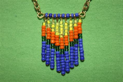 seed bead projects seed bead tassel necklace 183 how to make a tassel necklace