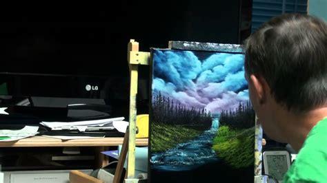 bob ross painting on black canvas painting bob ross s season 2 episode 11