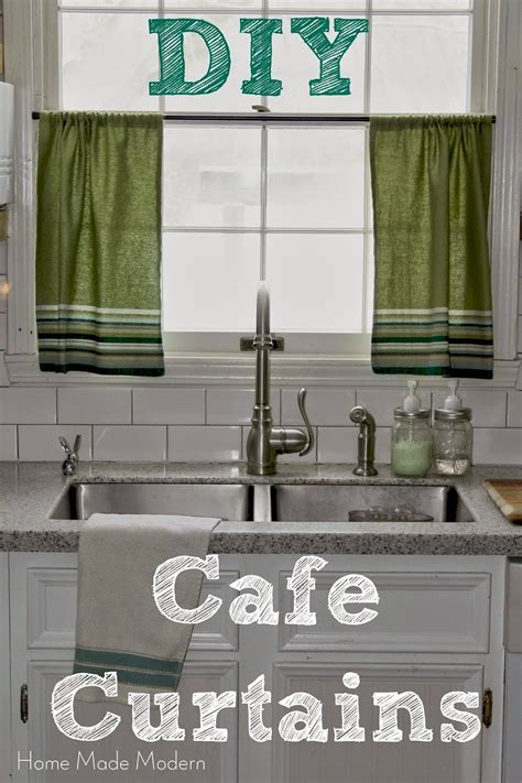 cafe curtains kitchen cafe curtains from kitchen towels home made modern