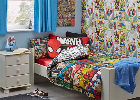 marvel comic themed boys bedroom contemporary by b q