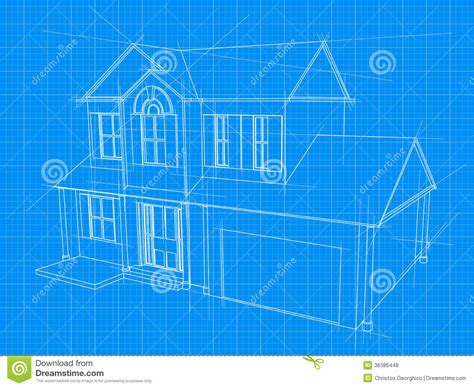 blueprints for new homes house blueprint royalty free stock photos image 36386448