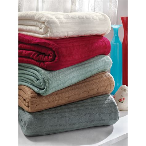 cozy cable knit throw brielle cozy cable knit throw blanket reviews wayfair
