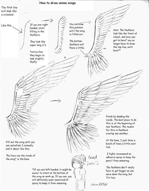 drawing tutorials anime drawing tutorial on wings tutorials refs