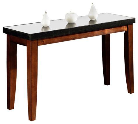 granite top sofa table granite bello collection sofa table contemporary
