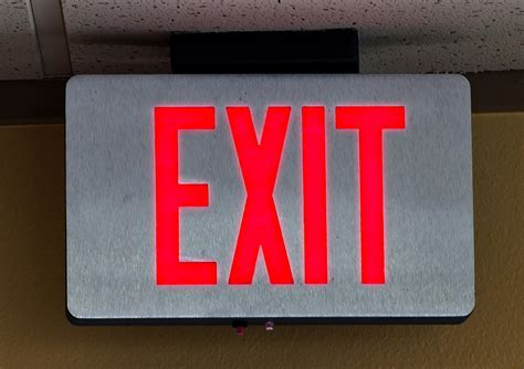 led exit light bulbs 301 moved permanently
