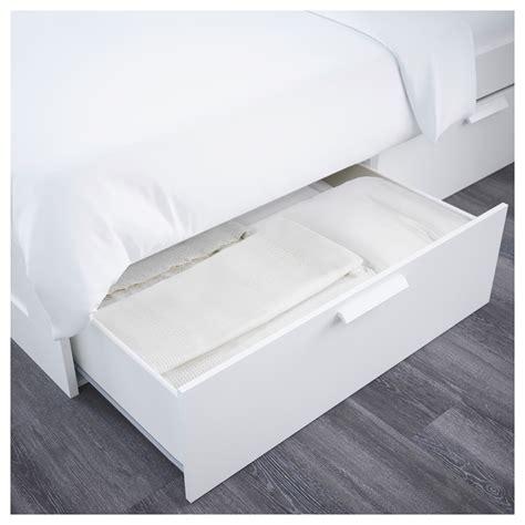 ikea bed frame storage brimnes bed frame w storage and headboard white lur 246 y