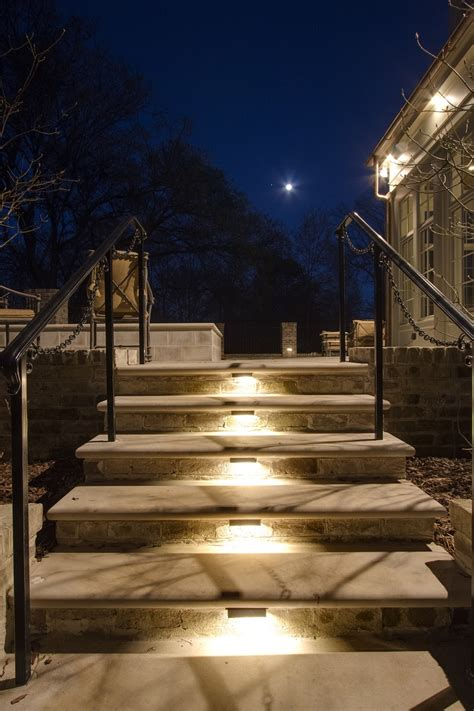 outdoor step lighting louisville outdoor steps stairs and landscape