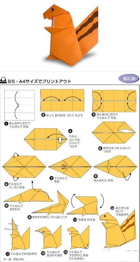 origami squirrel squirrel chipmunk easy origami origami